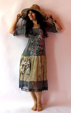 Reused and remade dress tunic by jamfashion on Etsy,