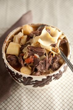 Hearty Beef and Noodle Soup at PaulaDeen.com