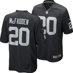 Oakland Raiders Darren McFadden #20 Replica Game Jersey Fanzz.com