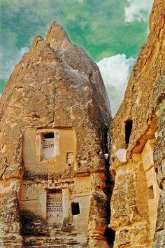 5th century Gorome church ruins in Cappadocia, Central Anatolia, TURKEY.