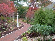 front walkway, brick path, landscaping ideas, decorating ideas, garden paths