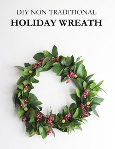 diy non-traditional holiday wreath