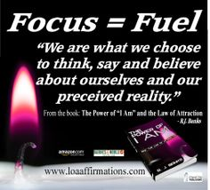 """It's been called the key to success, and the key to failure, and to quote Earl Nightingale, """"We become what we think about."""" Focus your thoughts, words and actions and create YOUR Desirable, Happy, Healthy and Wealthy life. It really IS easy...if You choose, and allow it to be  - R.J. Banks http://amzn.com/099162310X"""