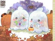 Check out this adorable art of the Squishable Ghost by Squishy super fan Ann F.!! #squishable #plush #fanart