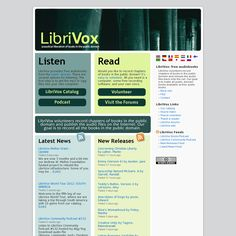 LibriVox - LibriVox provides free audiobooks from the public domain in mp3 format.