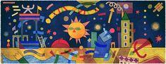 Google. Doodle publicado un 14 de diciembre. Nacimiento de Xul Solar