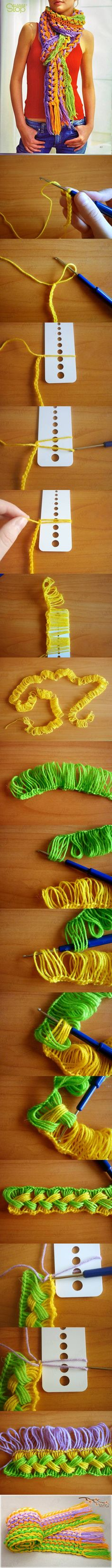 diy ideas, clothes crafts, crochet ideas, diy crafts, crochet crafts, diy clothes, hairpin lace, craft ideas, crochet scarfs