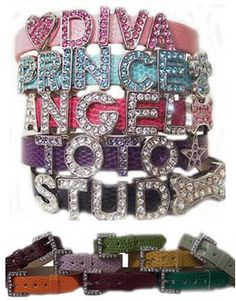 Image detail for -bling bling personalized dog collars
