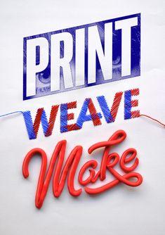Print Weave Make – ID by Luke Lucas, via Behance