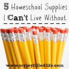 5 Homeschool Supplies I Can't Live Without