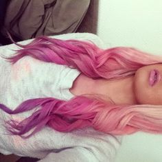 perfect ombre pinks to purple