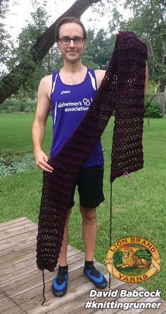 David Babcock, the Knitting Runner, Wants to Make a Trade: Your Alzheimer's Story for a Scarf