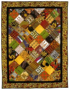 African fabric quilt inspiration.