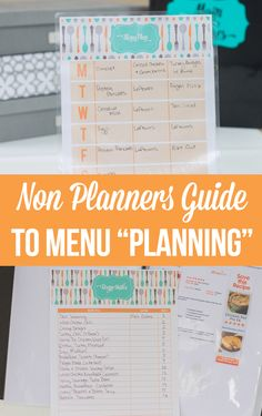 "How to menu ""plan"" w"