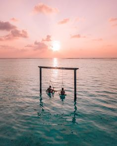 Travel goals, sunset, blue sea