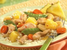 Slow Cooker Chicken and Vegetables with Pineapple