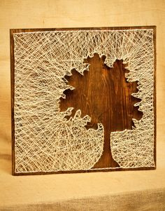 Tree Silhouette String Art. $60.00, via Etsy. This doesnt look so hard!