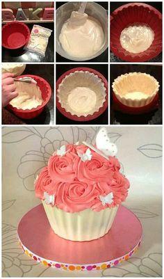Giant Cupcake Tutorial