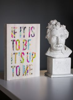 DIY Typographic Washi Tape ARt
