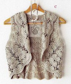 charts, crochet bodi, crochet chart, bolero, knit