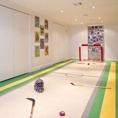 basement designs, kid playroom, kid fun, sport, hous, hockey room, basement playroom, kids play rooms, dream rooms