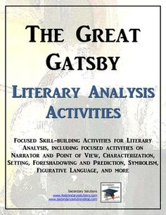 an analysis of juxtaposing in the novel the great gatsby by fscott fitzgerald Here's what f scott fitzgerald thought about his classic american novel the great gatsby to circle nearer to this book [the great gatsby] as goes without saying, in your analysis of gatsby.