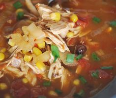 Crockpot enchilada soup.