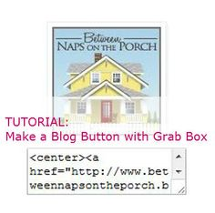 Tutorial: Make a Blog Button for Your Blog with Grab Box (Code) Underneath