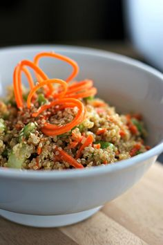 Quinoa with Ginger Sesame Dressing