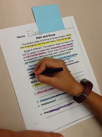 Surfin' Through Second: Color Coding Text Evidence. Use for compare contrast essay project?