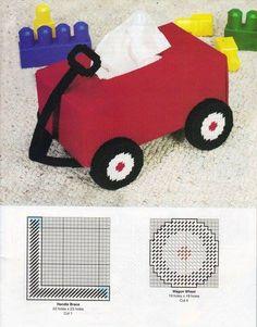 RED WAGON TISSUE BOX 1/3