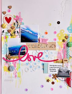 #papercrafting #scrapbook #layout hello love by ~Sasha, via Flickr