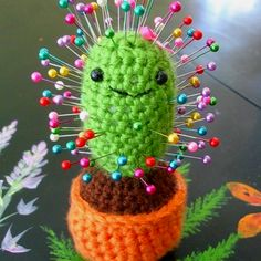 Cute little cactus pin cushin!!!