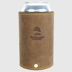 goldman leather koozie | RedEnvelope.com | gifts for men
