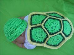 Free turtle prop crochet pattern