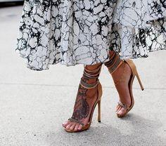 midi skirts, summer sandals, feet tattoos, dress, lace tattoo, shoe