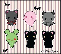 Cute Halloween Designs 2 by *A-Little-Kitty on deviantART