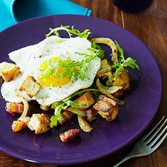 roast fennel, panzanella recip, pancetta panzanella, eggs, mouthwat, foooood recip, breakfast, panzanella sunset, bistro food