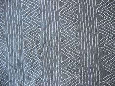 Geometric Print Charcoal Grey and Whie Block by theDelhiStore, $14.00