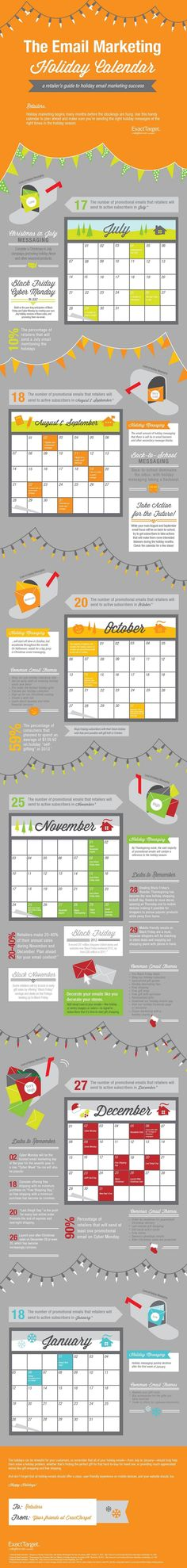 Email Marketing - The Email Marketing Holiday Calendar [Infographic] :  #email #marketing