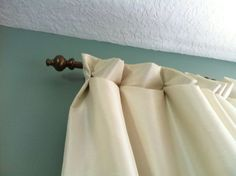 Handmade Blackout Curtains and Inexpensive Curtain Rods - Saving the Family Money