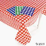 checkered table covers #orientaltrading $14.99