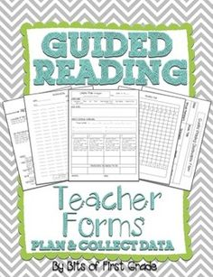 Guided Reading Lesson Plan Templates: All the templates you need to stay organized for the whole year!