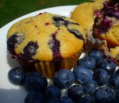 Blueberry Corn Muffins