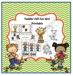 Toddler Fun Mini Printable from Preschool Printables on TeachersNotebook.com -  (15 pages)  - Numbers, coloring, tracing, sequencing, puzzles and more!
