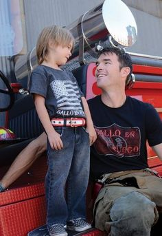 Cool kids' belts crafted from fire hoses, with proceeds helping actual firefighters. Love!