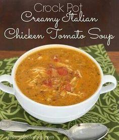 Creamy chicken tomato soup
