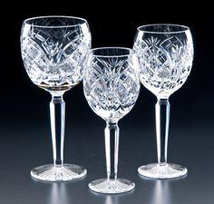 Heritage Irish Crystal Cathedral Wine Glasses