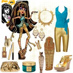 Polyvore Monster High Fashion - all kinds of good examples of Monster High Costumes using everyday clothing.