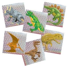 Dinosaur Prism Stickers (144 Stickers) at theBIGzoo.com, a toy store featuring 3,000+ stuffed animals.